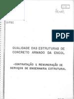 encol - 15 - qualidade das estr. de concr. arm. da encol - contrat. e remun. de serviços de eng. est.