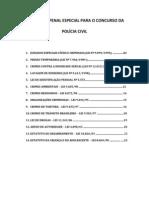 LEGISLAÇÃO PENAL ESPECIAL PARA O CONCURSO DA POLÍCIA CIVIL