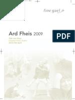 Fine Gael Ard Fheis 2009 Clár
