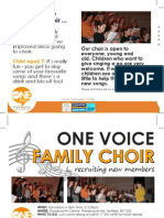 With One Voice Family Choir Poster