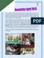 Aikya Newsletter April 2013