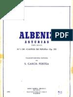 Asturias No.1. de ( Cantos de España) Op. 232