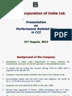 CCI ON PRP ON 31.8.2012