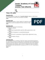 Revision Test 1(Sale Ch 1-3)