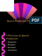 Speech Production Process