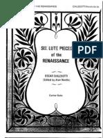 Six Lute Pieces of the Renaissance