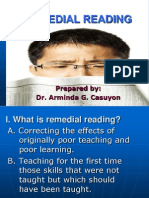Seminar on Remedial Reading