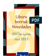 2013ko apirileko liburu berriak -- Novedades abril 2013