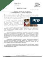 01/05/13 Germán Tenorio Vasconcelos reciben Titulares de Salud y Segego Pliego Petitorio de La Seccio_n 35 Del Sntsa