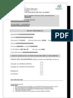 Fichas inscripción alumno