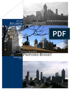 City of Atlanta Fiscal Year 2014 Proposed Budget