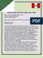 CENA DE ANIVERSARIO. DISCURSO DEL PRESIDENTE DE LA FOP