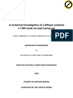 A Numerical Investigation of a Diffuser Onboard a 1-8th Scale on-road Racing Car