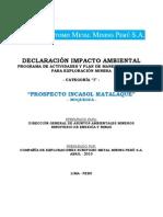 Declaracion Impacto Ambiental Matalaque