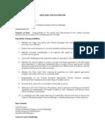 Finance Officer- 2010 Job Description