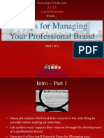 8 Tips for Managing Your Professional Brand (Part 1) - Boston Tech Recruiter
