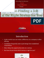 Keys to Finding a Job at the Right Startup for You - Boston Tech Recruiter