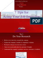 7 Tips for Acing Your Job Interview - Boston Tech Recruiter