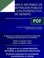 PROGRAMAS E INFORMES CON PERSPECTIVA DE GÉNERO