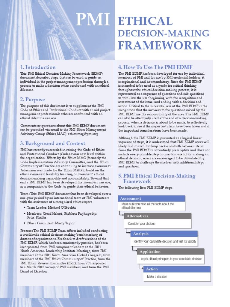 Ethical Framework: Decision-Making