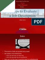 6 Steps to Evaluate a Job Description (Part 1) - Boston Tech Recruiter
