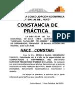 Constancia s