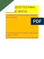 REQUISITOS PARA BECA DE APOYO