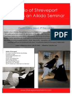 Charles Colten Sensei at Aikido of Shreveport May 2013 Flyer