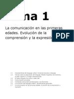 Tema 1 La Comunicacic3b3n en Las Primeras Edades Evolucic3b3n de La Comprensic3b3n y La Expresic3b3n