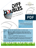 The Diff Doubles Tournament June 15th
