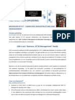 FACTSHEET HBO-OPLEIDING:   BACHELOR OF ICT - COMPUTER INFRASTRUCTURE AND MANAGEMENT