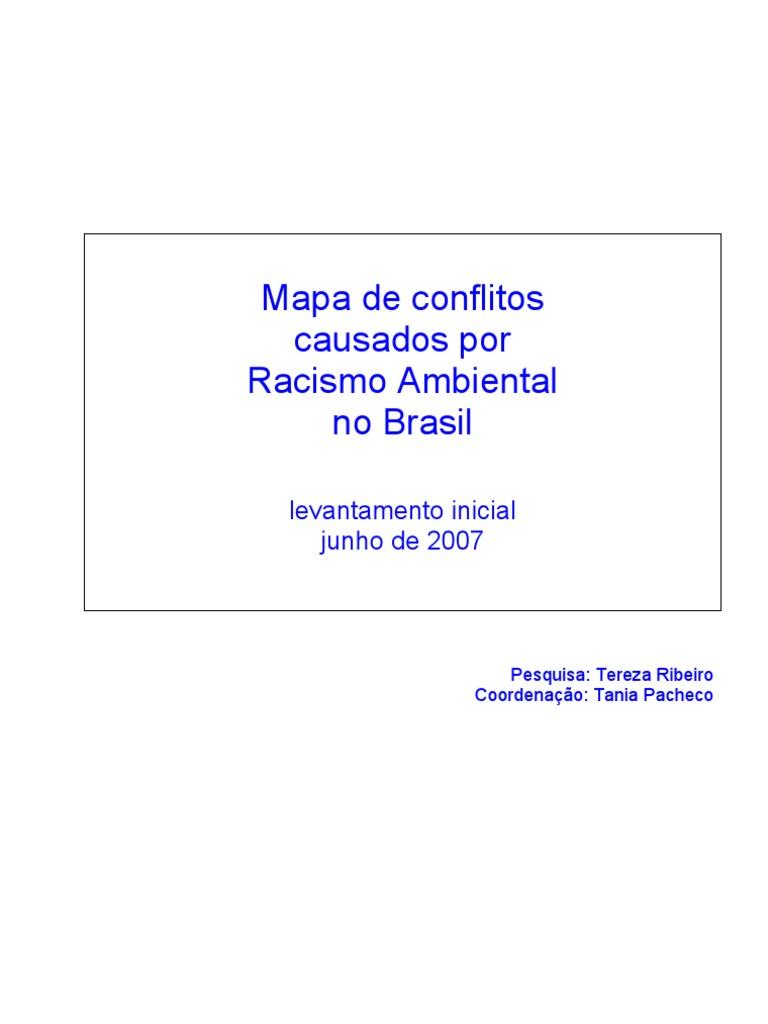 9553e5406d2 Mapa de conflitos causados por Racismo Ambiental no Brasil