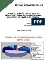 CICE Modulo VI Gestión de Riesgos Agosto 2010. def ppt