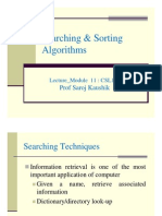searching and sorting algorithm
