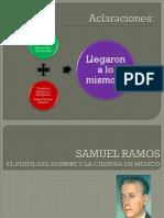 Samuel Ramos, El Perfil Del Hombre y La Cultura en Mexico Analisis 4 Hojas a Mano 6 de Junio (1)