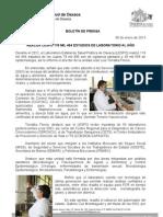 06/01/13 Germán Tenorio Vasconcelos REALIZA LESPO 119 MIL 464 ESTUDIOS DE LABORATORIO AL AÑO