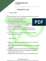 IELTS Reading Test Tips