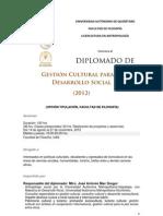 Diploma Gestion Cultural 2012
