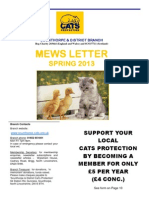 Scunthorpe & District Cats Protection Spring 2013 Newsletter