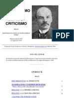 Lenin, V.I. - Materialismo y Empiriocriticismo