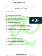 IELTS Writing Test Task 2 Tips