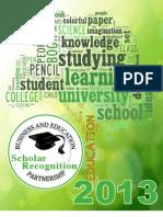 2013 Scholar Booklet