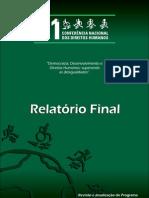 Relatorio Final 11 CNDH