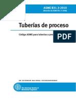 Codigo Asme b31.3-2010 Tuberias de Proceso