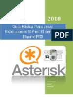 Guia Basica Para Crear Extensiones SIP en Elastix PBX