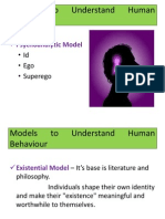 Models to Understand Human Behaviour