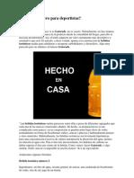 Gatorade Casero Para Deportistas