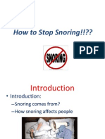 "Kevin's "" How to stop Snoring"" Presentation"