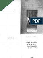 Comunidades Imaginadas (Benedict Anderson)