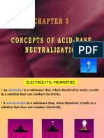 Concepts of Acid Base Neutralization